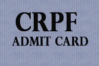 CRPF Admit card 2016 @crpfindia.com