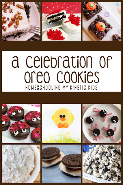 A Celebration of Oreo Cookies // Homeschooling My Kinetic Kids // recipes // learning with oreos