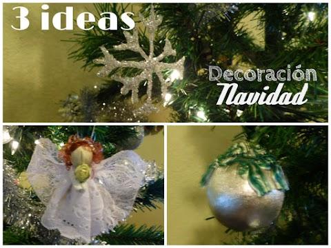 3 adornos para el árbol DIY