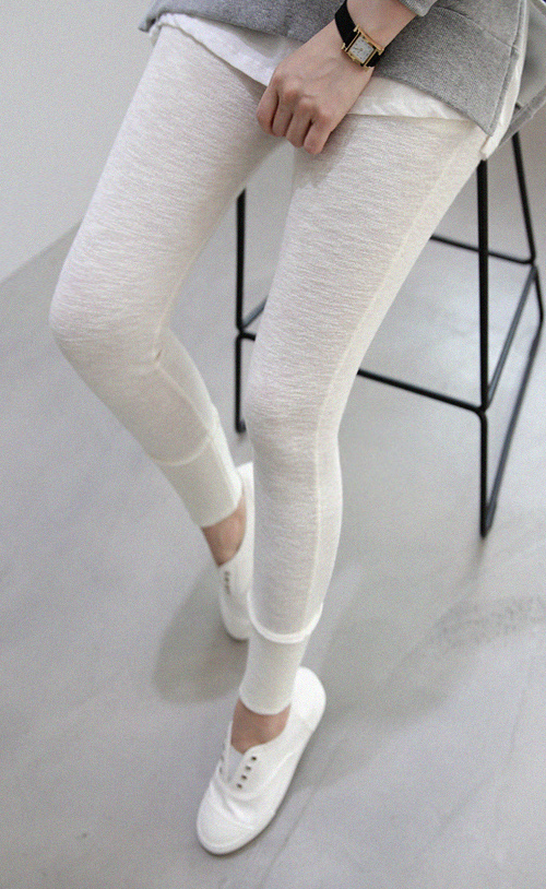 Tapered Hem Cotton Leggings
