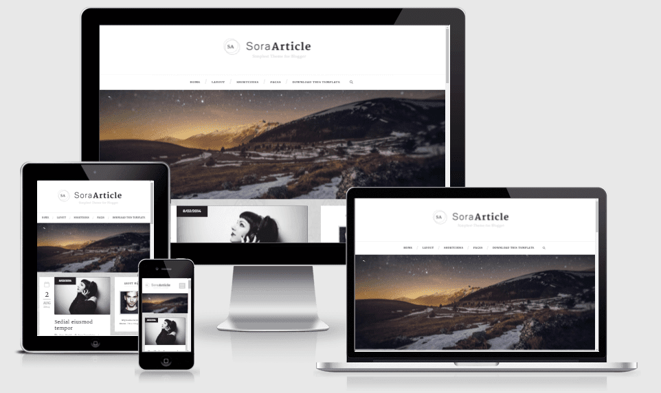 Sora Article - Responsive Blogger Template