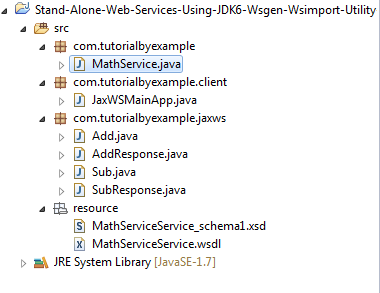 Tutorial By Example: JAX-WS Stand Alone Web Services Using JDK1 6