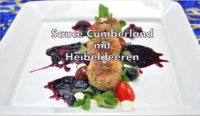 Sauce Cumberland und Heidelbeeren