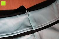 Reißverschluss: MODETREND Damen Kleider mit Bogen 1/2-Arm Etui Elastisch Tulpenkleid Wort Schulter Partykleider Bleistiftrock Abendkleid Casualkleider