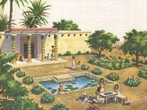 Resultado de imagen para jardines egipcios