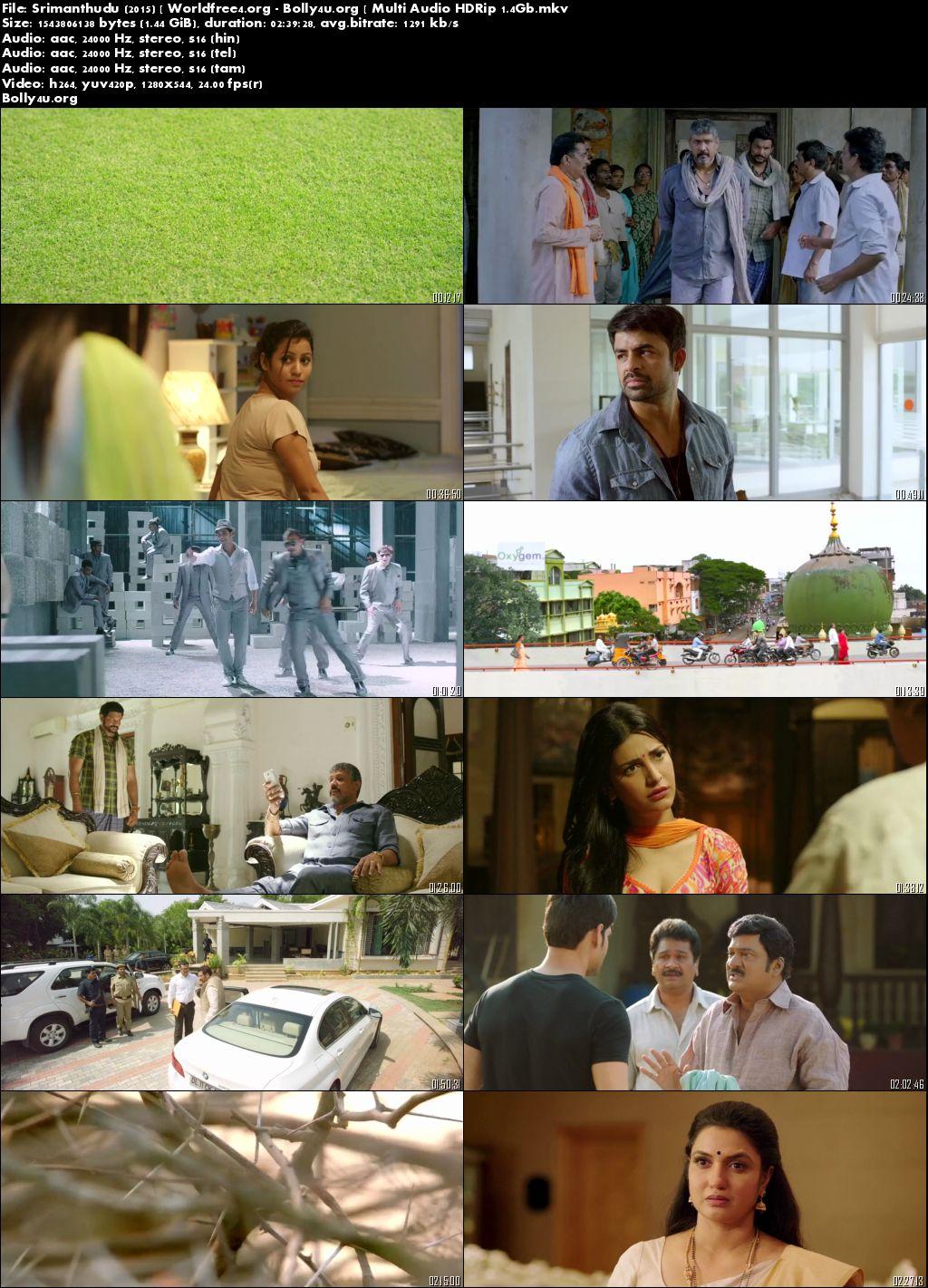 Srimanthudu 2015 HDRip 1.4Gb Hindi Multi Audio 720p
