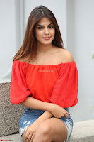 Rhea Chakraborty in Red Crop Top and Denim Shorts Spicy Pics ~  Exclusive 331.JPG