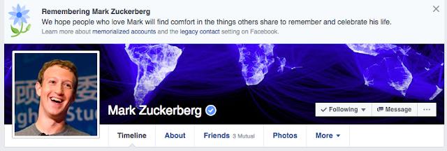 Várias pessoas estão relatando ter visto a mensagem no topo de seus perfis do Facebook, e o bug parece também estar afetando Mark Zuckerberg