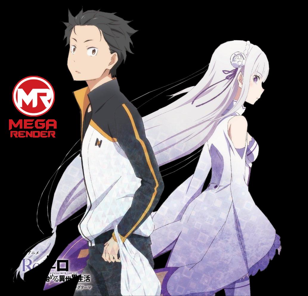 Render  Subaru Natsuki & Emilia