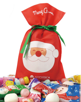 cute santa claus gift bag christmas 2016