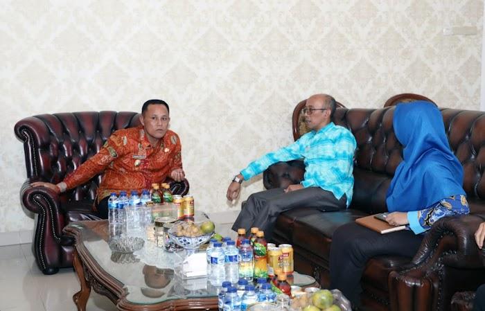 Plt Bupati Lampung Selatan Terima Kunjungan Ombudsman RI Perwakilan Lampung.