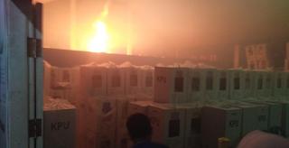 Gudang Penyimpanan Kotak Suara di Sumbar Terbakar