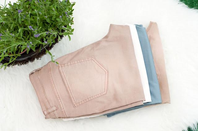 długie spodnie z h&m elastan i bawełna