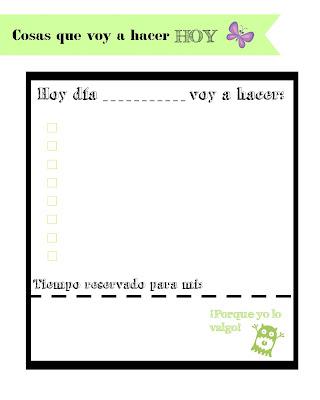 planificador diario descargable gratuito verde
