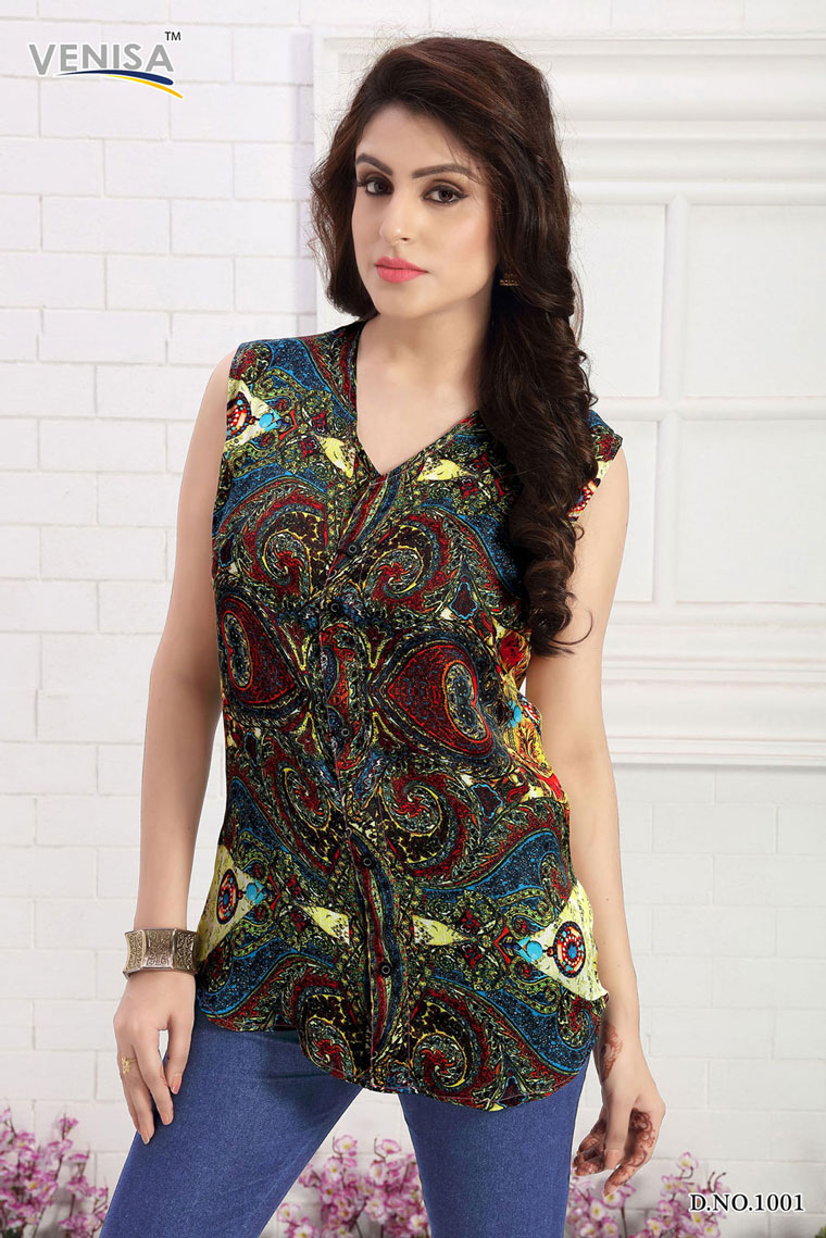Allen – Digital Printed New Stylish Top Wholesale