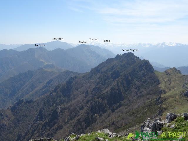 Vistas del Retriñón, Torres y Toneo desde Peña Mea