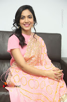 Actress Ritu Varma Pos in Beautiful Pink Anarkali Dress at at Keshava Movie Interview .COM 0299.JPG