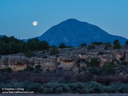 Goodbye Cortez: Moonset Over Sleeping Ute