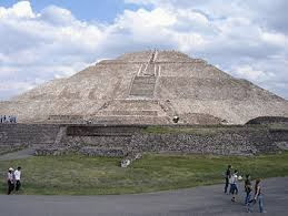 The Pyramid of the Sun  is the largest structure in the ancient city of Teotihuacan, Mexico