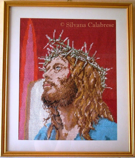 Jesus Christ embroidered Half-stitch Loving San Francisco