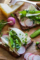 Iacopi English Peas and Himalayan Yak Cheese on Toast (Repost)