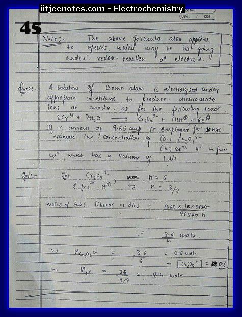 Electrochemistry Notes IITJEE15