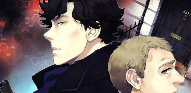 Sherlock y Watson dibujo manga