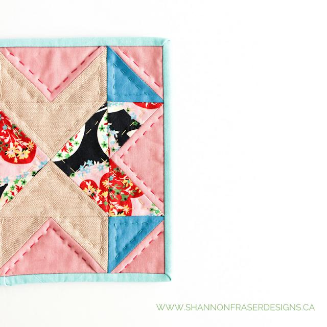 Love All Around Quilt Block   Shannon Fraser Designs   Modern Quilting   Hand Quilting    Valentine's Day  