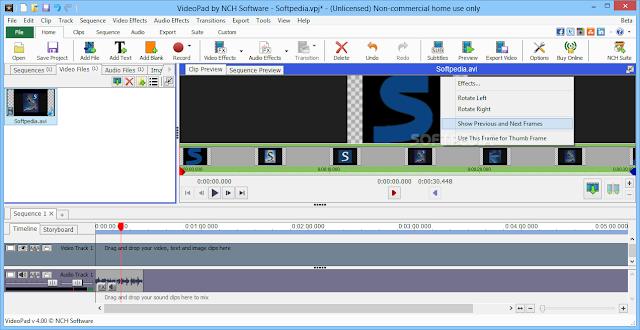 تحميل برنامج تقطيع وتحرير الفيديو للكمبيوتر VideoPad Video Editor 4.33