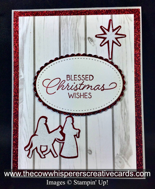 Card, Bethlehem Edgelits, Night of Bethlehem, Festive Farmhouse Designer Series Paper