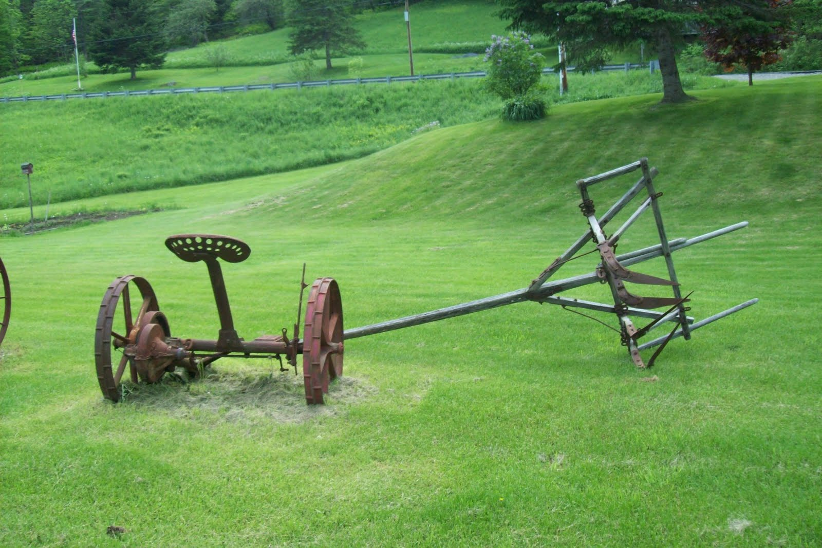 Life In A Deer Yard Antique Farm Machinery