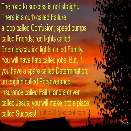 Love Quotes About Life: My Blog Of Inspirations: The Road To Success Is Not