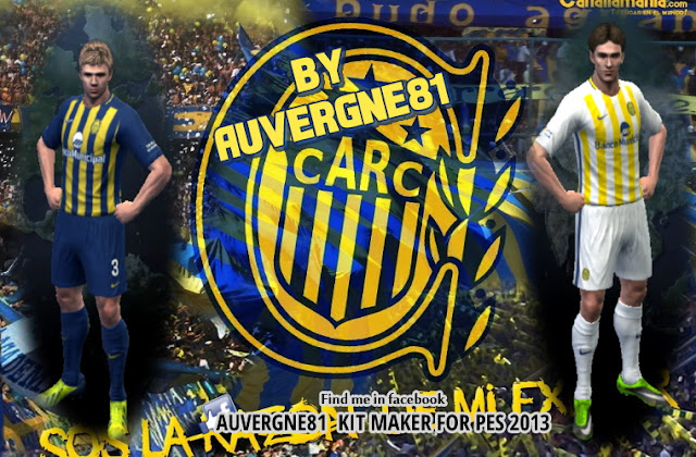 PES 2013 Rosario Central Home and Away GDB Kits 2017 0dfcd1548