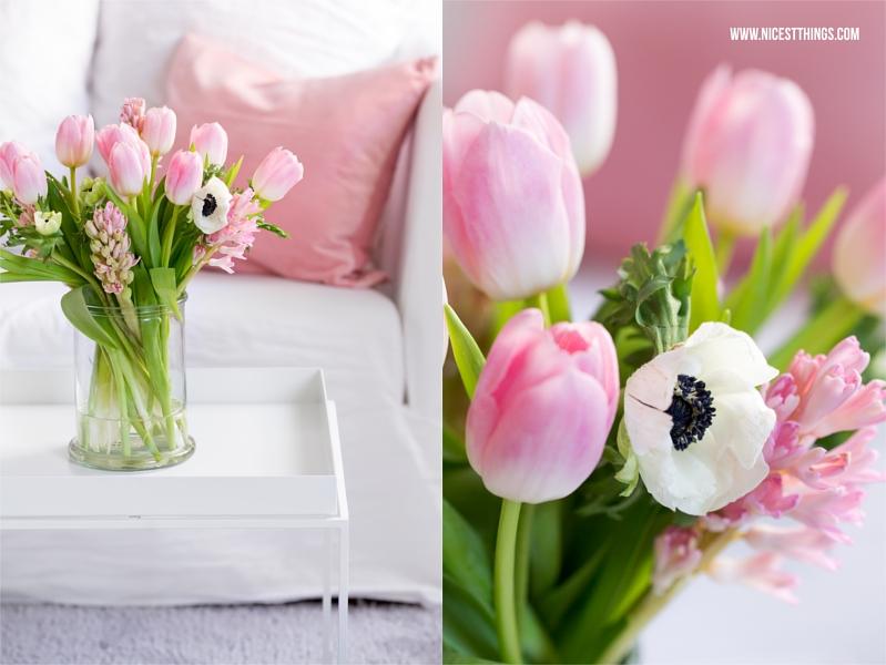 Blumenstrauss in Rosa mit Tulpen, Anemonen, Hyazinthen