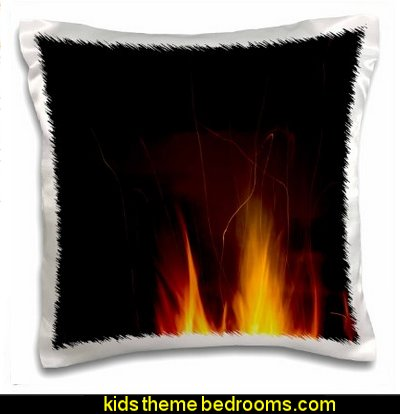 Yellow Fire Against A Dark Night Sky   Pillow Case