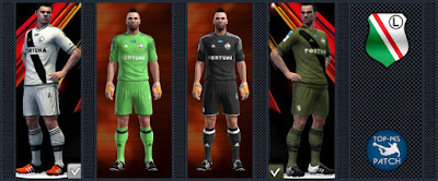 PES 2013 Legia Warsaw kit 2016-17 by Radymir
