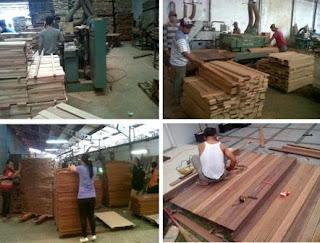 Proses Produksi Lantai Kayu parket