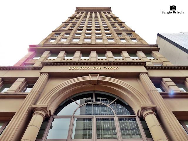 Perspectiva inferior da fachada do Edifício San Paolo - Jardim Paulistano - São Paulo