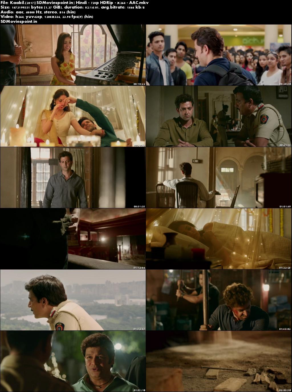 Screen Shots Kaabil (2017) Full HD Hindi Movie Download 720p