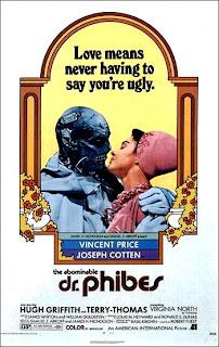cartel original de la película El abominable Dr. Phibes