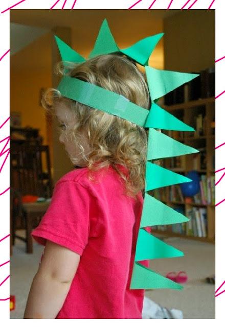 DIY งานประดิษฐ์หมวกแฟนซีไดโนเสาร์ทำจากกระดาษ