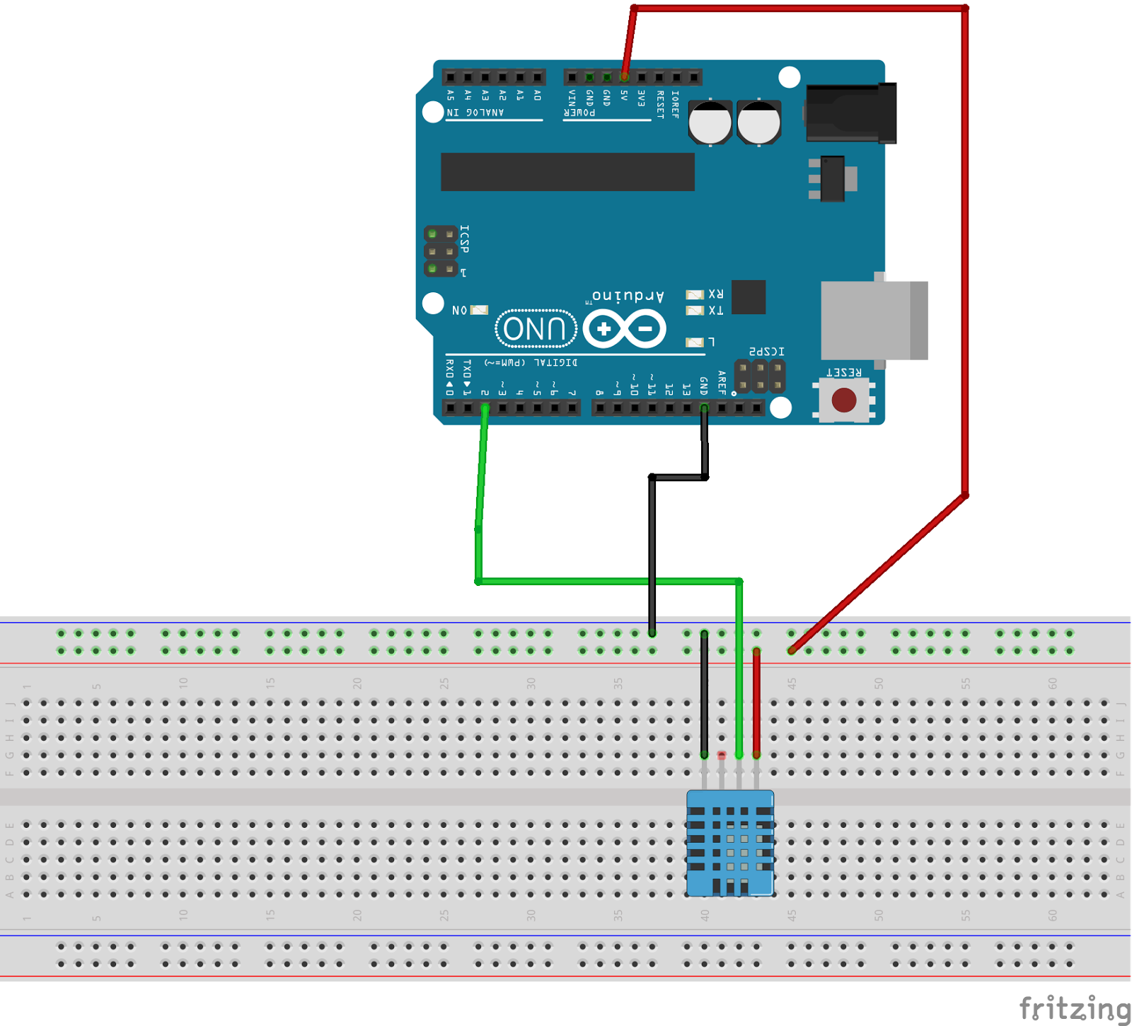 Arduino sketch with DHT11