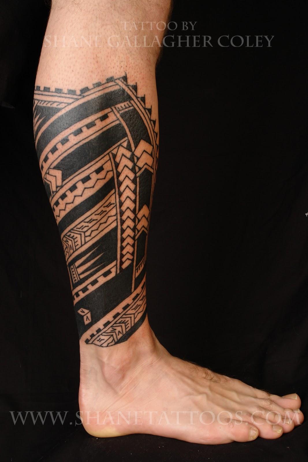 Maori Calf Tattoo: MAORI POLYNESIAN TATTOO: Polynesian Calf Tattoo On Cam