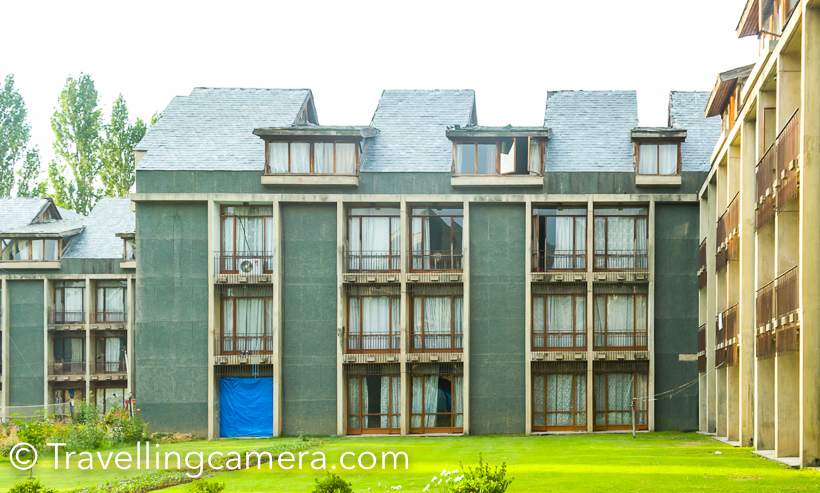 When in Srinagar, we stayed in Centaur Hotel which is very well located around Nagin lake. It's a very well located and huge property around the lake. This Photo Journey shares more about the place, services, cost and other relevant things.Centaur has huge hotel complex and more than the hotel building, space is utilized as gardens and lawns. Most of these gardens and lawns are facing lake. Exteriors of this hotels are well maintained while the main building is in bad shape. There are very few rooms which are in better state. Rooms in the ground floor are in worst state.  You can expect good food, if you don't have very high expectations in terms of variety or cuisines. Hotel has humble staff and Centaur offer good service.But you have to be lucky to get decent room. We had to change room twice. First room was on ground floor and there was very bad smell of monsoon fungus. When we moved to other room, we found that mattresses of the room were uneven. After lot of arguments, we were upgraded to the better room. Such experiences make a vacation worse. For first 2 days, we felt like not coming back to the hotel.Centaur is located at best place around the lake and has huge space. But unfortunately it's badly maintained. I know that folks recommend it as value for money, but given a choice I would stay in 2/3 star hotel which is reliable.