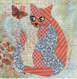 With these colorful cat collages, now I can have a cat, at least a paper one, in any combination of colors that I want! My cat Sylvia will love these!