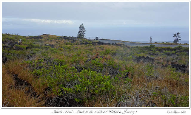 Naulu Trail: Back to the trailhead. What a Journey !