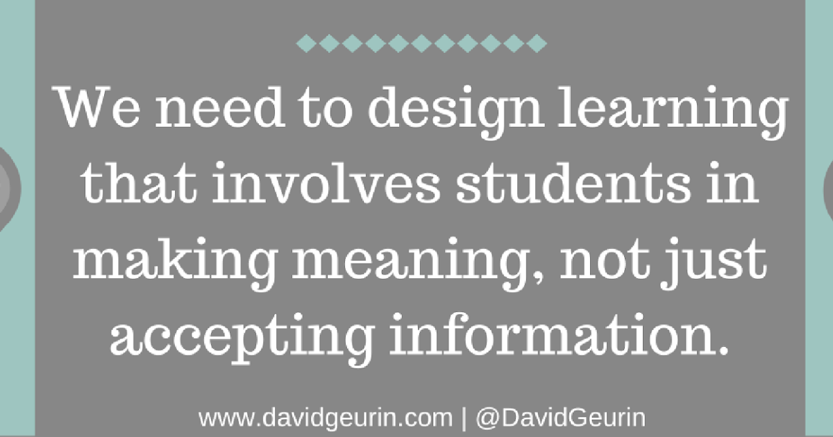 Deeper Learning Is By Discovery, Not Delivery