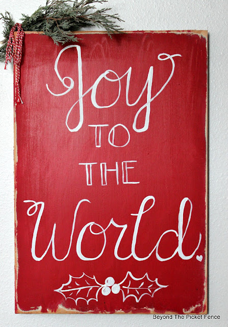 Christmas sign, hand lettered, joy to the world, Christmas decor, https://goo.gl/UQPOsP