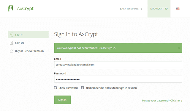 AxCrypt - The easiest way to protect your file with a password