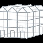 温室のイラスト(フェンロー型)